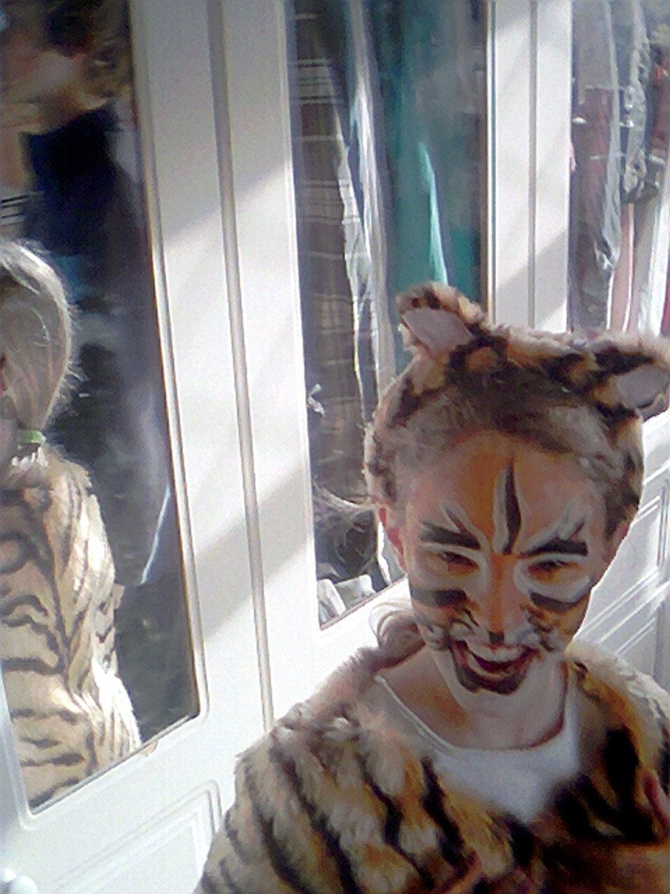 Bethany with tiger makeup in 2007